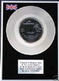"LOUIS ARMSTRONG  - Limited  7"" Platinum Disc -  WHAT A WONDERFUL WORLD"